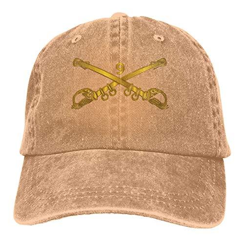 AllenPrint Unisex Kappe,9. Kavallerie-Niederlassung Wo Txt Denim-Vati-Hüte Justierbare Baseballmütze