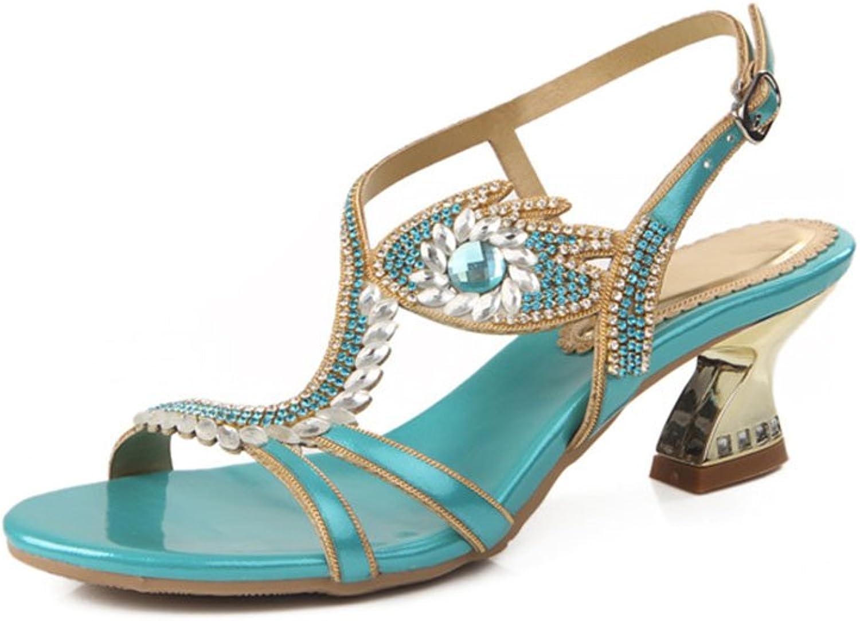Jiang Woherrar Woherrar skor lädertte Springaa sommar Stiletto Heel Heel Heel Hollow för Party & Evening Dress Sandals  fabriks direkt och snabb leverans