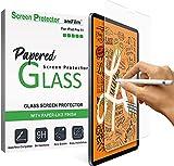 amFilm PAPERed Protector de Pantalla Compatible con iPad Pro 11'' (2021/2019), iPad Air 4 10.9'' (2020), Protector de Pantalla de Vidrio Templado 9H Acabado Mate Papel para Face ID y Apple Pencil 2nd