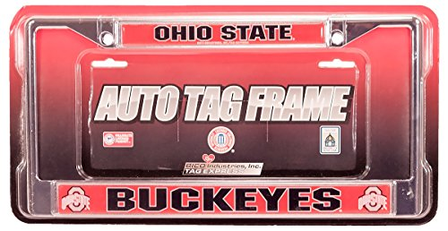 Rico NCAA Ohio State Buckeyes Deluxe License Plate Chrome Frame