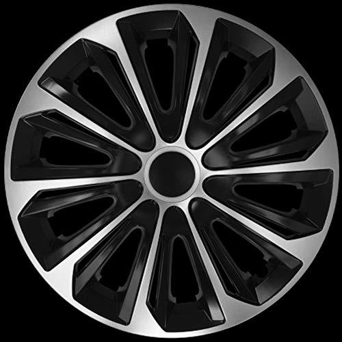 Premium Radkappen Silber-SCHWARZ Line-zweischichtig lackiert, 4 Stück, STRG16, Neu (16 Zoll)