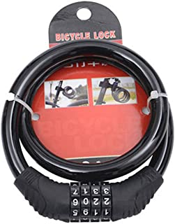 Cable de Seguridad para Bicicleta de monta/ña 4 d/ígitos Geshiglobal
