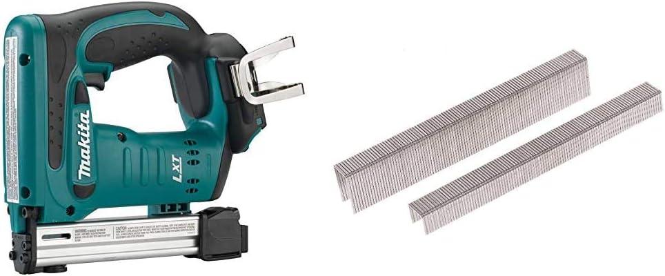 18 V ohne Akku, ohne Ladeger/ät Silber /& Makita Klammern 10-16 mm 5040 St/ück P-08975 F-32663 ? Blau Makita DST221Z Tacker 18,0 V