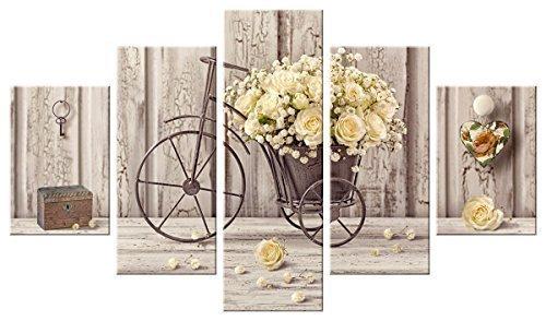 Lupia Marco Moderno 5 Piezas de Madera Vogue 48 x 85 Rosas Amarillas