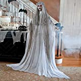 Lifesize Haunting Bewitching Beauty Gruesome Standing Ghost Girl Bride With Flashing Red Eyes Spooky Scary Halloween Prop Decor