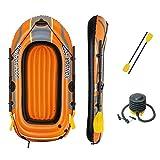 Bestway 6'5' x 45'/1.96m x 1.14m Kondor 2000 Set Bateaux. Mixte Jeunesse, Orange