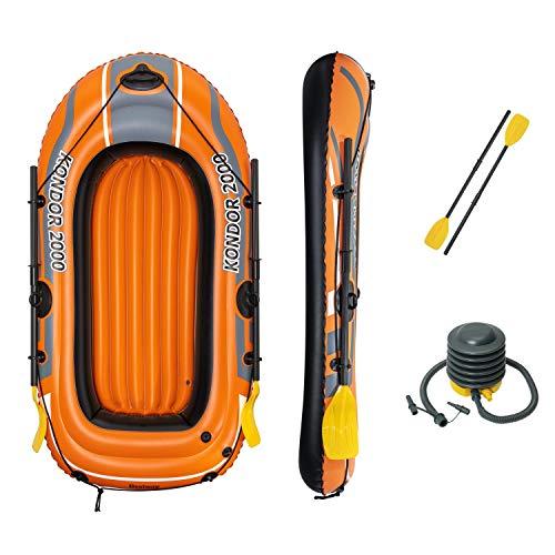 "Bestway 6'5"" X 45""/1.96m X 1.14m Kondor 2000 Set Barcos, Unisex niños, Naranja ✅"