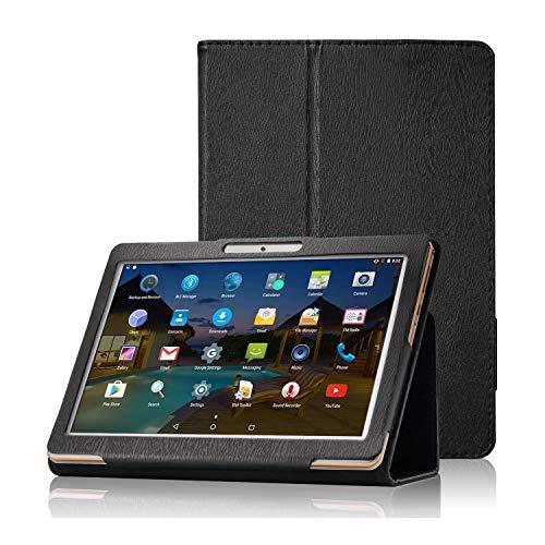 【2020新品】Dragon Touch K10 /Note Pad K10ケース/Max10 /MAX10 PLUS ケース 10.1インチ タブレット DragonTouch K10 保護カバー 【YML】超薄型 超軽量 高級感 PU レザー ケース 耐衝撃 キズ防止 スタンド機能付き 全面保護型 Dragon Touch K10 /Note Pad K10 専用 スマートカバー(ブラック)