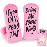 wine accessory gifts - Breezy Valley Wine Gifts for Women Her, Funny Gifts for Mom Grandma Friend, Birthday Gift Ideas, If You Can Read This Bring Me Some Wine Socks, Stocking Stuffers Wine Accessories Gift Boxes - Pink