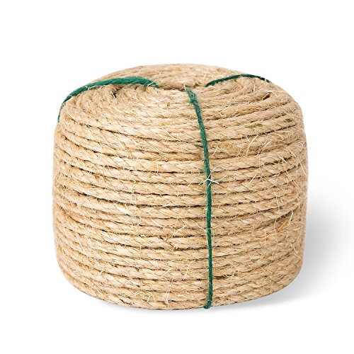 Yangbaga Sisal Rope for Cats - 1/4 Inch - Natural Fiber and Color 33FT
