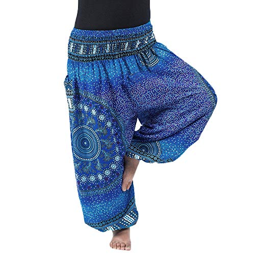 Nuofengkudu Women's Harem Pants Plus Size with Pockets Baggy High Waist...