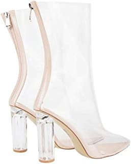e5c6aa5417f03 Amazon.com: Clear - Mid-Calf / Boots: Clothing, Shoes & Jewelry