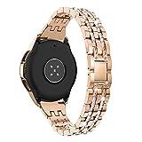 Aottom Cinturino Compatibile per Samsung Galaxy Watch Active 2 44mm Cinturini Orologi in Acciaio Inossidabile Smartwatch Cinturino 20mm per Galaxy Watch 3 41mm/Galaxy Watch 42mm/Active 40mm/Gear Sport