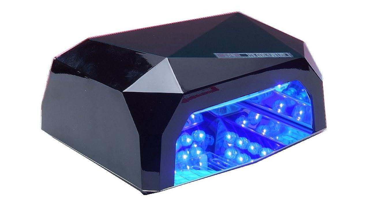 風邪をひく連結する悲しみネイルライトLED002 36W 黒  タイマー機能付き フットネイルにも