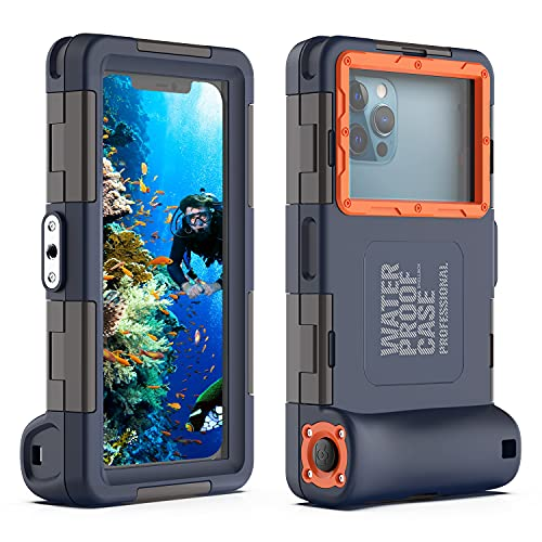 YOGRE iPhone Samsung Diving Phone Case, Underwater Photography Video Housings Case with Lanyard[50ft/15m], Diving Waterproof Case for iPhone 13/13 Pro/13 Pro Max/12/12 Pro/12 Pro Max LG Google etc