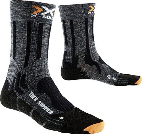 X-Socks Herren Socken TREKKING SUMMER, Anthracite/Black, 39/41, X100079