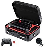Nintendo Switch Carrying Case from FOLLIM, Deluxe Hard Shell Travel Messenger Bag for Switch Console, Pro Controller & Accessories – Individual Games Card(x12) Case Included.