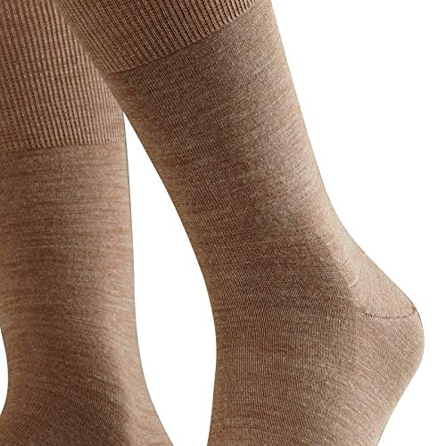 FALKE FALKE Herren Socken Airport - Merinowoll-/Baumwollmischung, 1 Paar, Braun (Nutmeg Melange 5410), Größe: 41-42