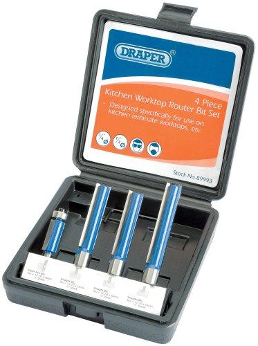 Draper 89993 - Juego de fresas extralargas para cocina (4 piezas)