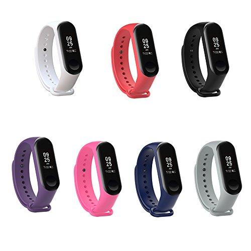 PINHEN Horlogebanden Compatibel met Xiaomi Mi Band 4 Bandje - Colorida Siliconen Vervangende Riemen voor Xiaomi Mi Band 4/3 Smart Band NFC (7pcs Set)