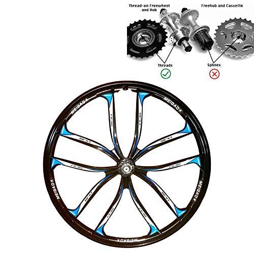 TYT Accesorios de Bicicleta 26/27.5 Pulgadas Llantas Mtb 10 Radios Aleación de Aluminio Y Magnesio Llantas de Bicicleta Ruedas de Bicicleta de Montaña, Aptas para Rosca Tipo Volante (Negro, 27.5 Pu