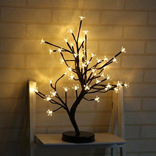 LEDMOMO Lichter baum LED Kirschblüten Schreibtisch Kirschbaum Lichterbaum Weihnachtsbeleuchtung Hochzeit Party Deko (Warmweiß)
