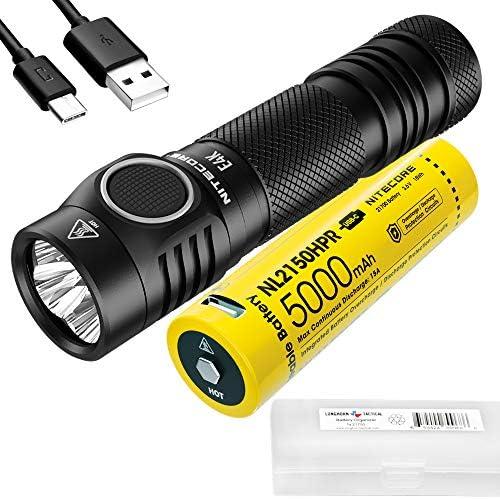 NITECORE E4K 4400 Lumen EDC Flashlight with 5000mAh USB C Rechargeable Battery and LumenTac product image