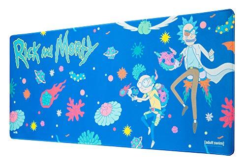 Erik® - Tapis de Souris Gaming XL Rick et Morty - Sous-Main Antidérapant - 80 x 35 cm