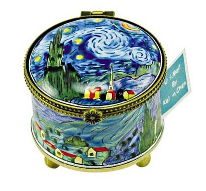 Kelvin Chen Enameled Postage Stamp Holder - Starry Night