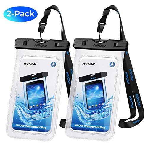 Mpow Custodia Impermeabile Smartphone,[ IPX8 Garanzia a Vita] [2 Pezzi 6.5 Pollici] Cellulare Impermeabile Custodia Subacquea per iPhone 11 /11 Pro Max/ XS/X/XR/8/Galaxy S10/S9/S8/Mate 20/P30/P20