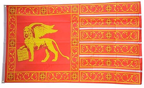 Fahne / Flagge Italien Venedig Republik 697-1797 + gratis Sticker, Flaggenfritze®
