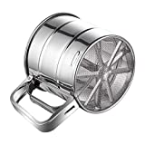 Flour Sifter, McoMce Stainless Steel Sifter for Baking, Double Layers Sifter, Powder Sugar Shaker...