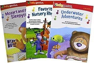 Ultimate Baby Genius 3-Movie Collection DVD - Mozart & Friends Sleepytime / Favorite Nursery Rhymes / Underwater Adventures