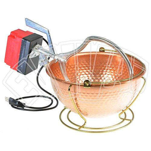 6 LT - 5 W - Paiolo In Rame Con Mescolatore Elettrico Per Polenta - Nuova Fac