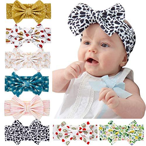 TOYANDONA 8 Stück Baby Mädchen Weiche Nylon Haarbänder Stirnbänder Neugeborene Baby Haarbänder Und Schleifen Kind Haarschmuck