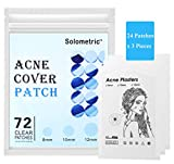 Acne Pimple Patch, Hydrocolloid Acne Healing Patches, Invisible Absorbing Cover, Blemish Spot Treatment Pore Dots, Skin Tag Remover, Care Dressing, Facial Acne Scar Free Stickers (72 Patches)