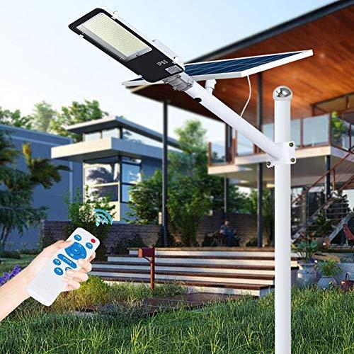 Farola Led Con Energía Solar, 150W ~ 500W Luces De Inundación Solares De Calle - Con Control Remoto Y Soporte De Montaje Ajustable - Ip65 Impermeable Para Parques/Garajes/Iluminación De Caminos,