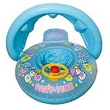 LHZMD Baby Schwimmring Mit Sonnendach Aufblasbares Kinderboot Aufblasbarer Schwimmhilfe Baby Pool Schwimmring Aufblasbares Schwimmen Ring Schwimmsitz,A