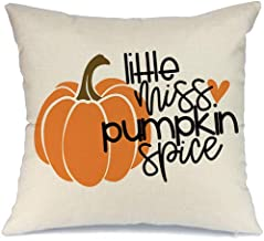 AENEY Fall Pillow Cover 18x18 inch Pumpkin Spice Throw Pillow for Fall Decor Farmhouse Fall Decorations Decorative Pillow Cover