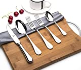 OTW PAVILION Mirror Polished Heavy Duty 18/10 Stainless Steel,65 Piece Flatware Set,Service for 12 without Rust