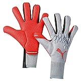 PUMA FUTURE Grip 19.1 Torwart-Handschuhe Grau-Rot, tamaño:10.5