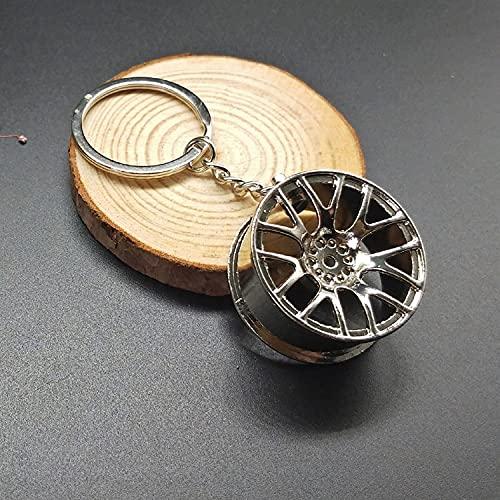 Keerock Llavero Creativo para llanta de Rueda, Llavero de Metal de Calidad, Accesorios para Llavero de Coche, Colgante de Regalo
