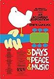HiSign Woodstock Zinn Wand Zeichen Retro Eisenmalerei