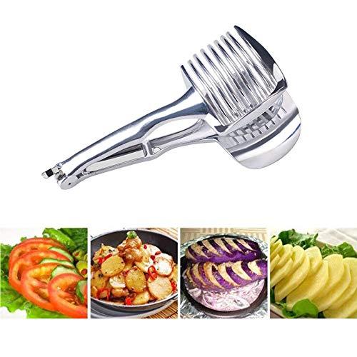Cortadores de tomate de limón de mano de acero inoxidable para verduras y frutas, apto para tomates, limones, patatas, cebollas, kiwi, apto para lavavajillas