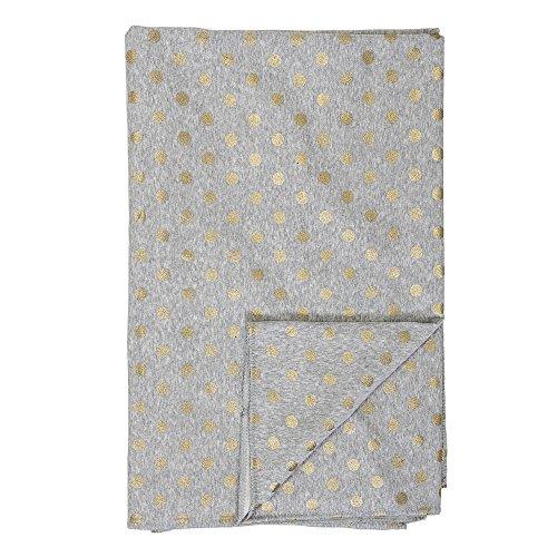Bloomingville - Tagesdecke/Bettüberwurf - grau mit goldenen Punkten - Baumwolle - L170xW130 cm