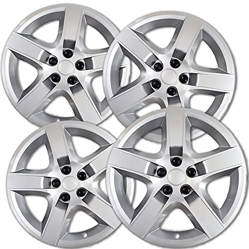 17 inch Hubcaps Best for 2008-2011 Chevrolet Malibu - (Set of 4) Wheel Covers 17in Hub Caps Rim Cover - Car Accessories for 17 inch Wheels - Snap On Hubcap, Auto Tire Replacement Exterior Cap