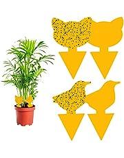 Vegena Fruitvliegenval, 60 stuks gele tafels, vliegenval, gele stickers, fruitvliegenvanger, vliegenvanger, gele val, lijmval, insectenval voor kamerplanten, rouwmuggen, bladluizen, potplanten, tuin