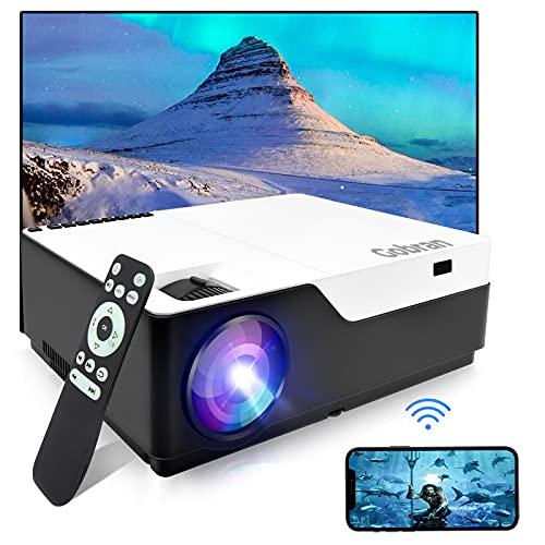 Proyector WiFi nativo 1080P Full HD compatible con 4 K, retroproyector 7500 lúmenes, proyector de cine profesional, soporte HDMI/USB/TV Stick/Xbox/PC/iOS/Smartphone Android