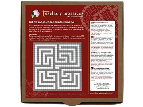 Kit de mosaico laberinto romano. 576 teselas de 9x9x9mm. Con