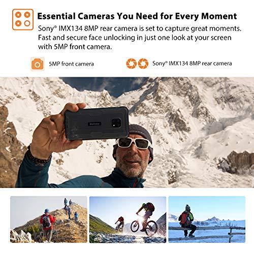 Blackview BV4900 Téléphone Portable Incassable,Écran 5,7' Batterie 5580mAh, Charge Inverse, Smartphone IP68 Étanche Antichoc Android 10 Smartphone Débloqué, 3Go+32Go(SD 128Go) NFC, GPS, Dual SIM 4G